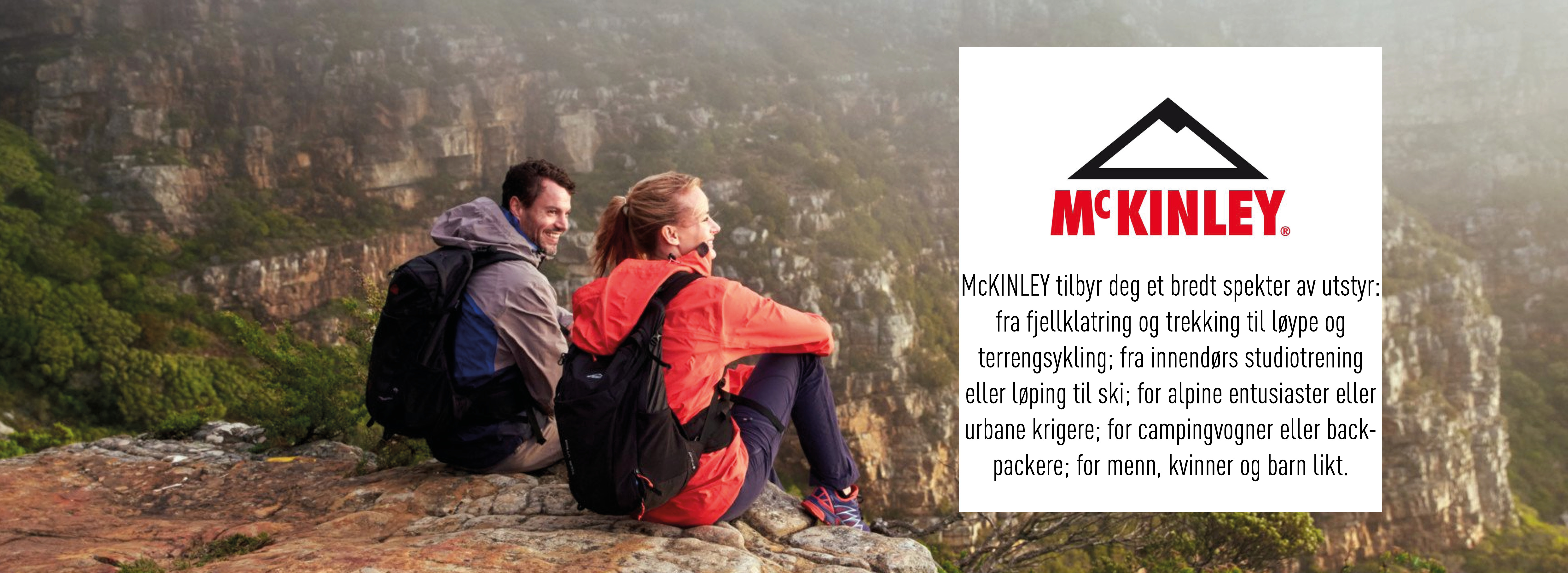 McKINLEY utendørsklær, utstyr og fjellklær www